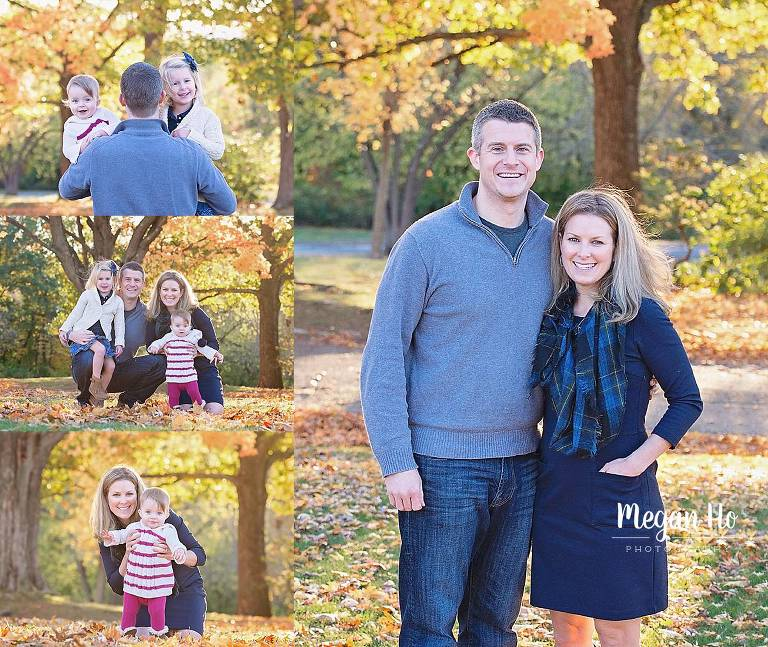 beautiful family session in stark park in nh with beautiful fall trees