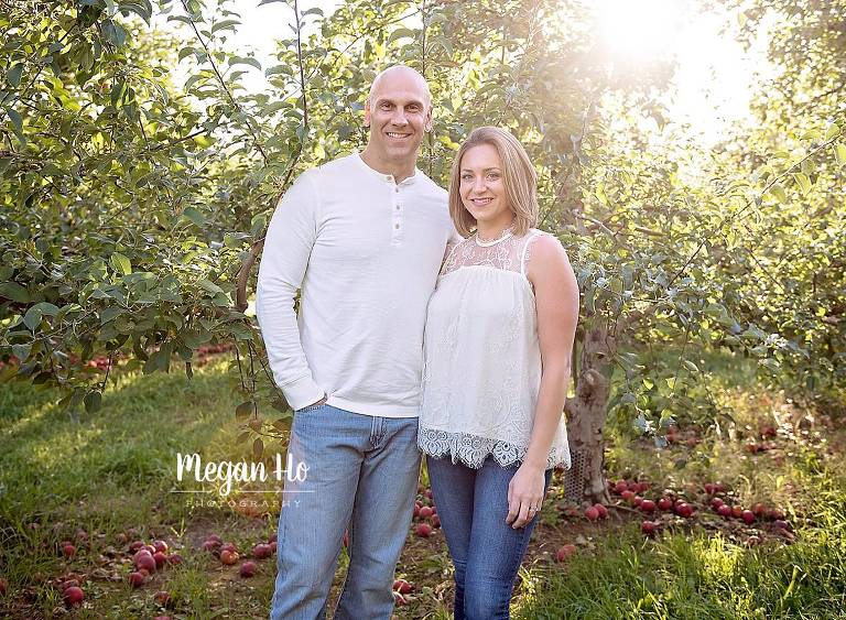 fall nh evening session with gorgeous couple in white