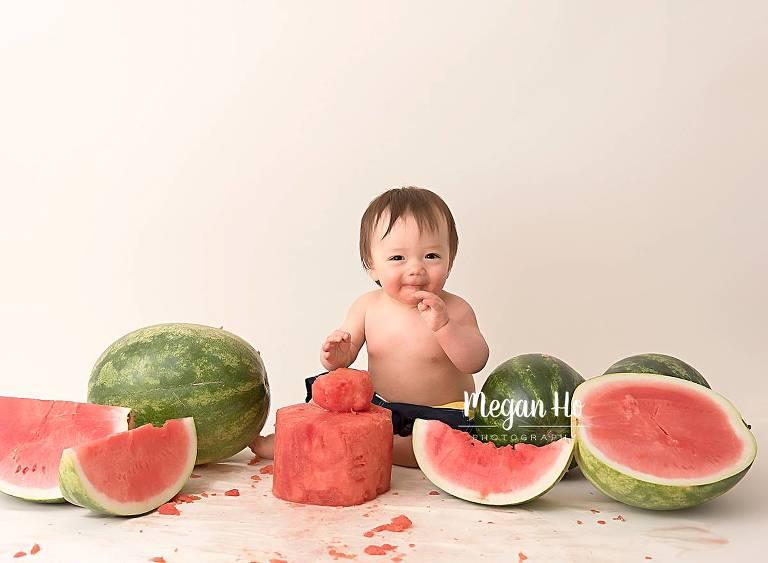 Deacon S Studio First Birthday Watermelon Smash Megan Ho Photography